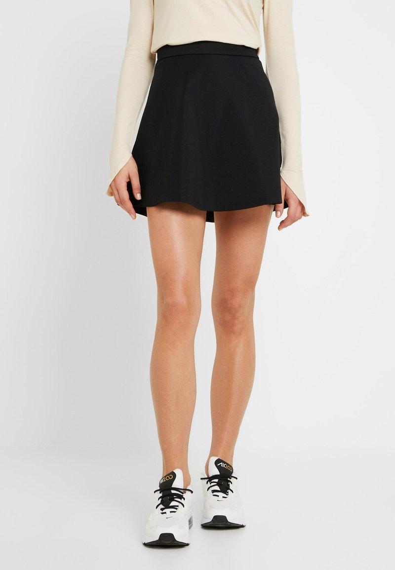 NA-KD - Pamela Reif x NA-KD HIGH WAIST SKATER MINI SKIRT - A-line skirt - black