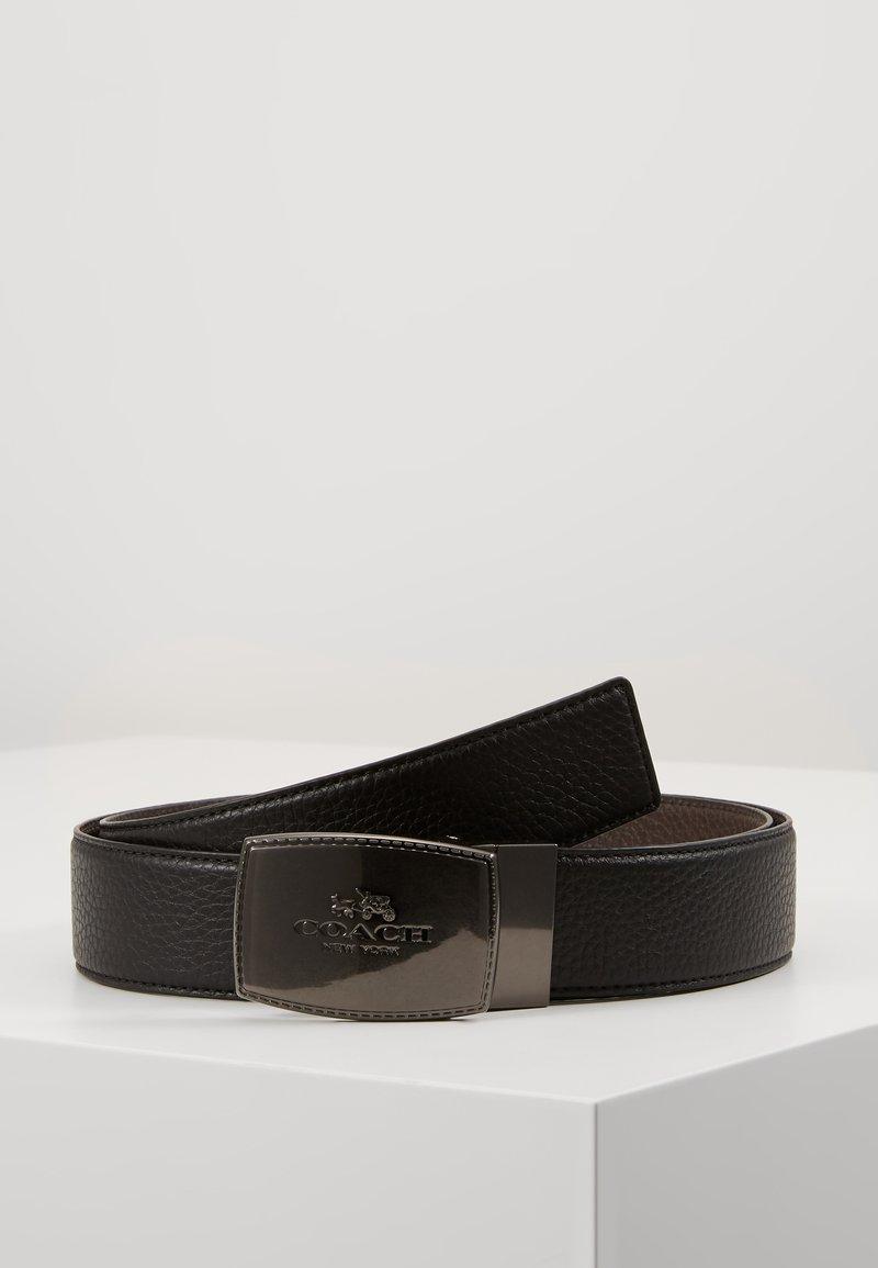 Coach - STITCHED PLAQUE BELT - Belt - black/mahogany