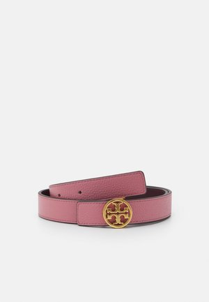 REVERSIBLE LOGO BELT - Pásek - pink magnolia/port gold-coloured