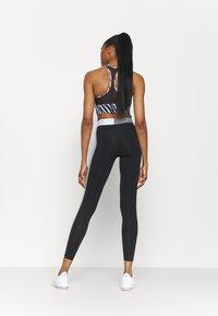 Nike Performance - Leggings - black/sail/iron grey - 2