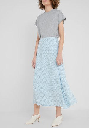 CAROL - A-line skirt - winter sky blue aop