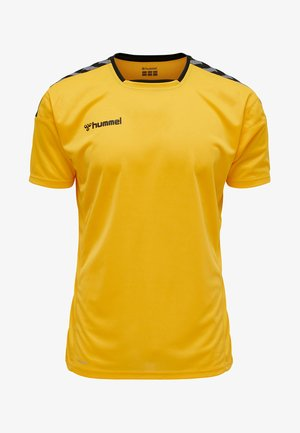 HMLAUTHENTIC - Print T-shirt - yellow
