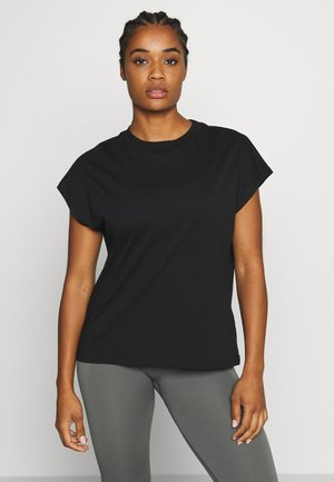 CREW NECK  - T-shirts - black