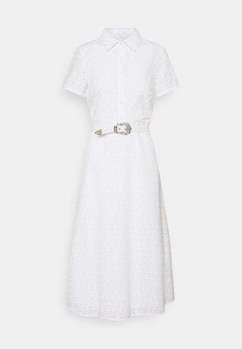 DAISY EYELET DRESS BELT - Blousejurk - white