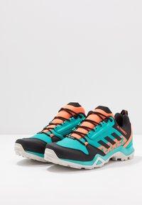 adidas Performance - TERREX AX3 GTX - Hiking shoes - hi-res aqua/core black/grey one - 2