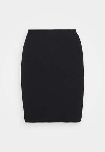 Basic mini ribbed skirt
