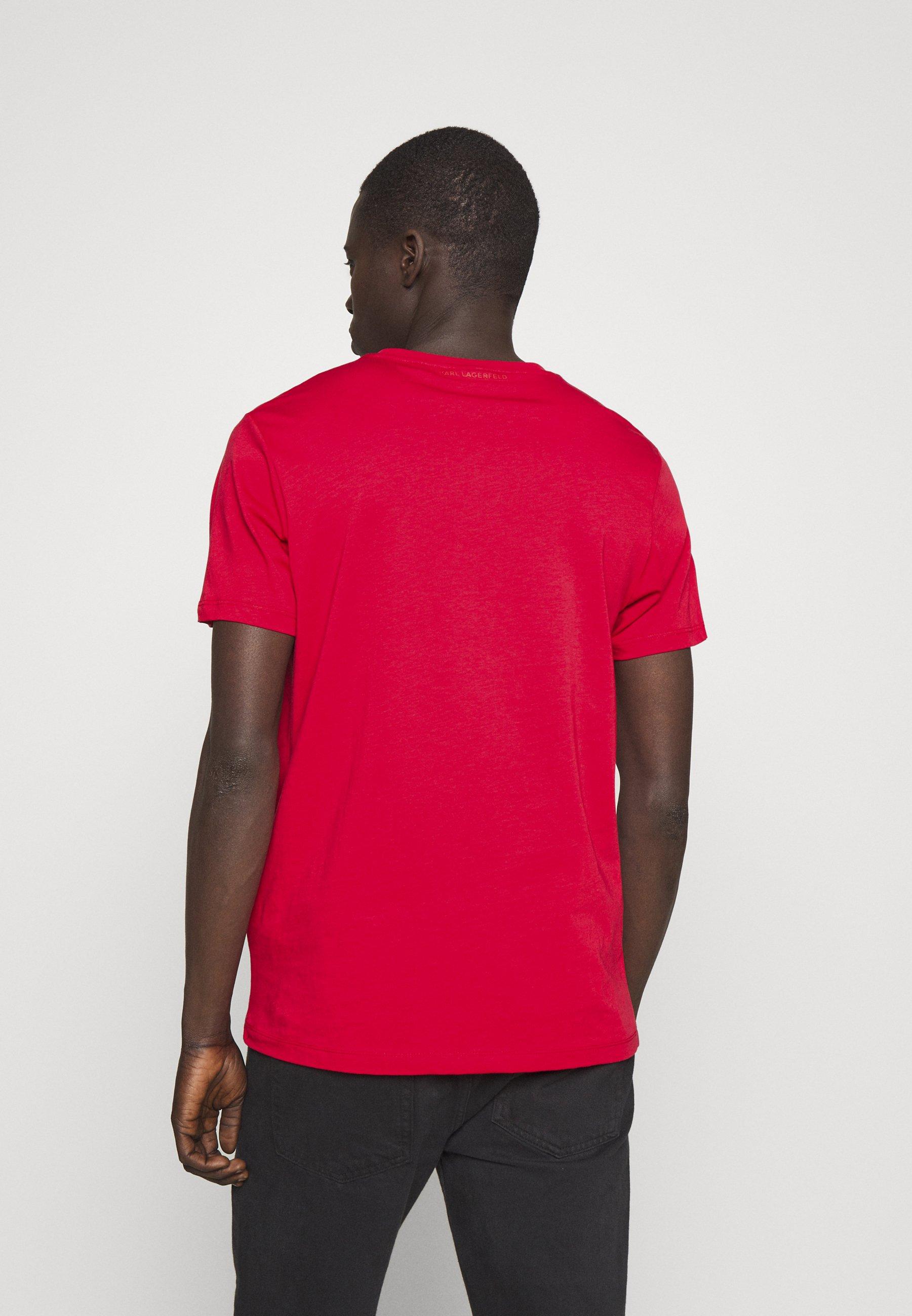 Tania cena Gorąca wyprzedaż KARL LAGERFELD CREWNECK - T-shirt z nadrukiem - red   Odzież męska 2020 TALcb