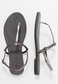 Anna Field Wide Fit - T-bar sandals - gunmetal - 3