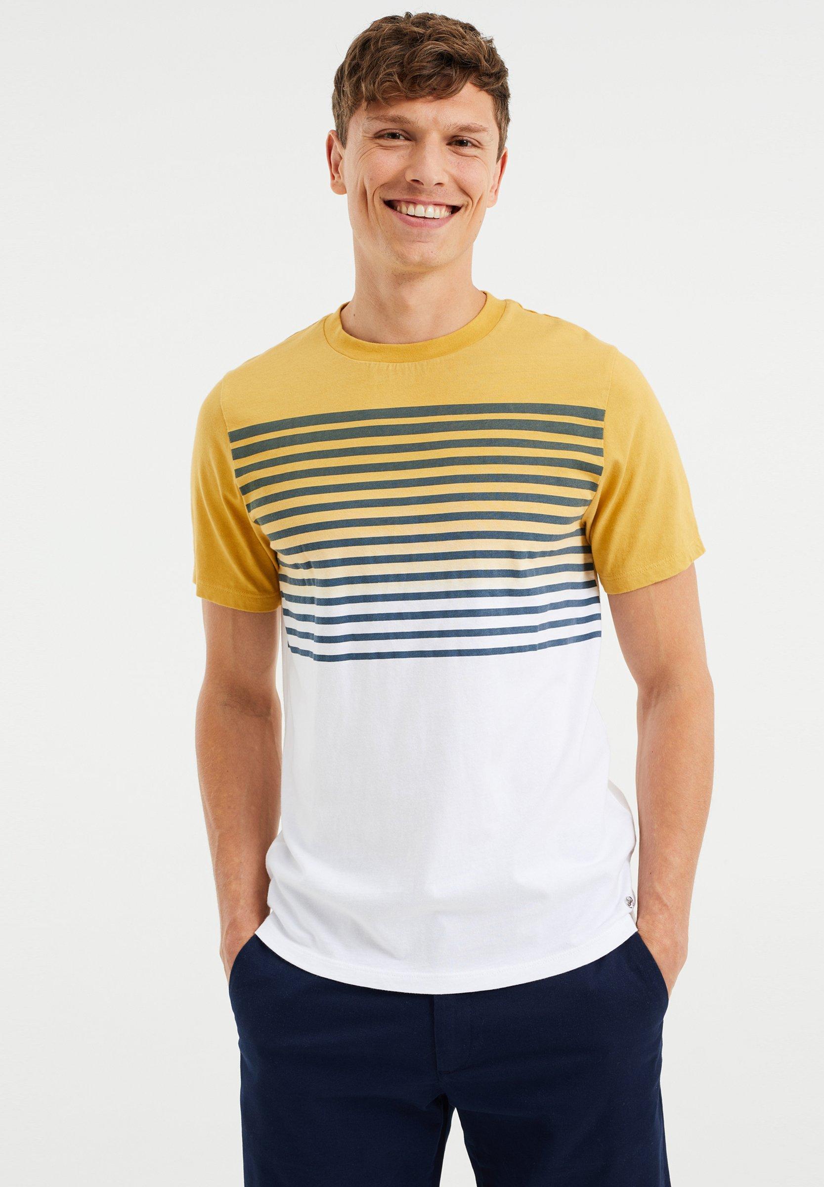 Uomo GESTREEPT  - T-shirt con stampa