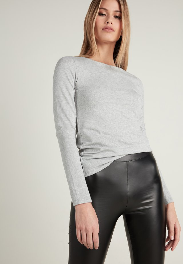 Long sleeved top - grigio melange chiar
