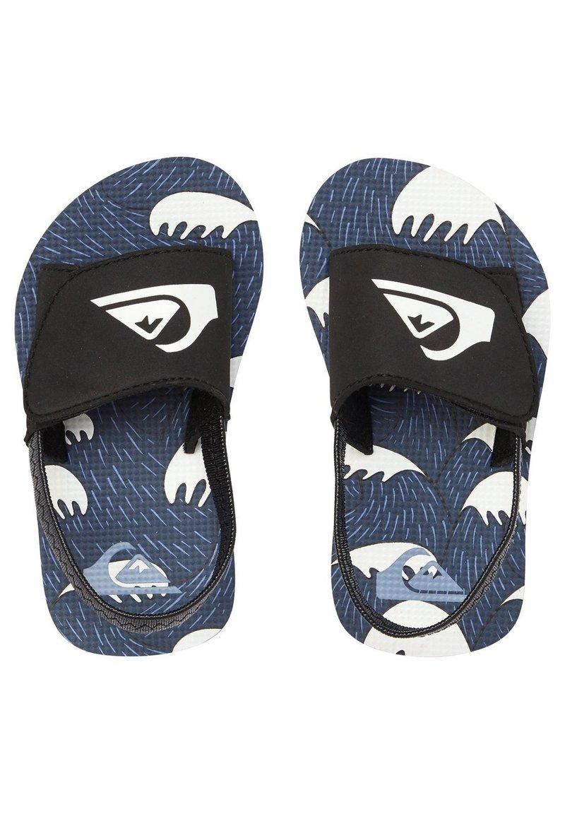 Quiksilver - MOLOKAI LAYBACK - Badslippers - black/blue/white