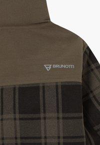 Brunotti - CHECK BOYS - Snowboardová bunda - pine grey - 8