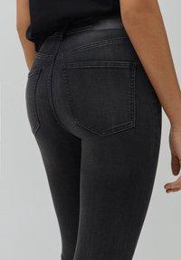 PULL&BEAR - SKINNY HIGH WAIST - Jeans Skinny Fit - dark grey - 4