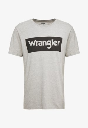 T-shirt z nadrukiem - mid grey melange