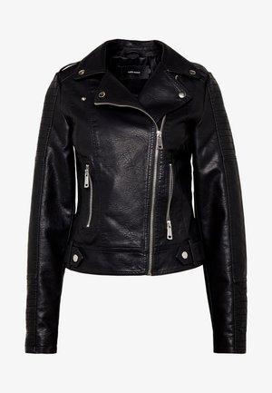SHORT JACKET - Faux leather jacket - black