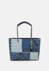 Guess - CESSILY TOTE - Handbag - denim multi - 0