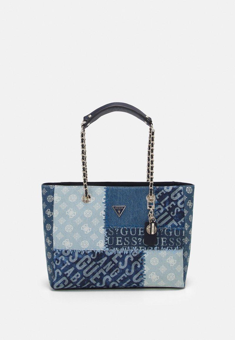Guess - CESSILY TOTE - Handbag - denim multi