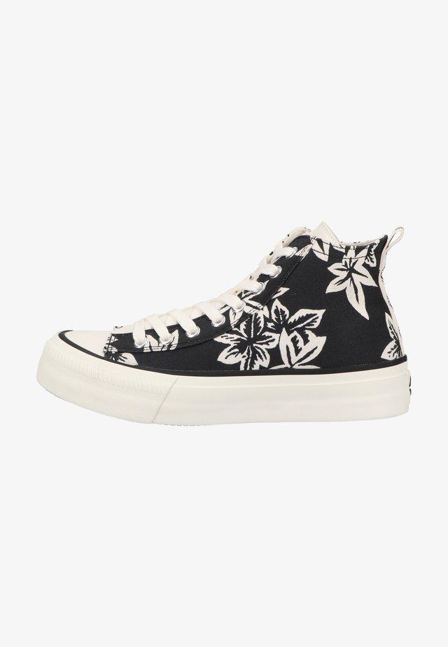 Sneakers hoog - black white