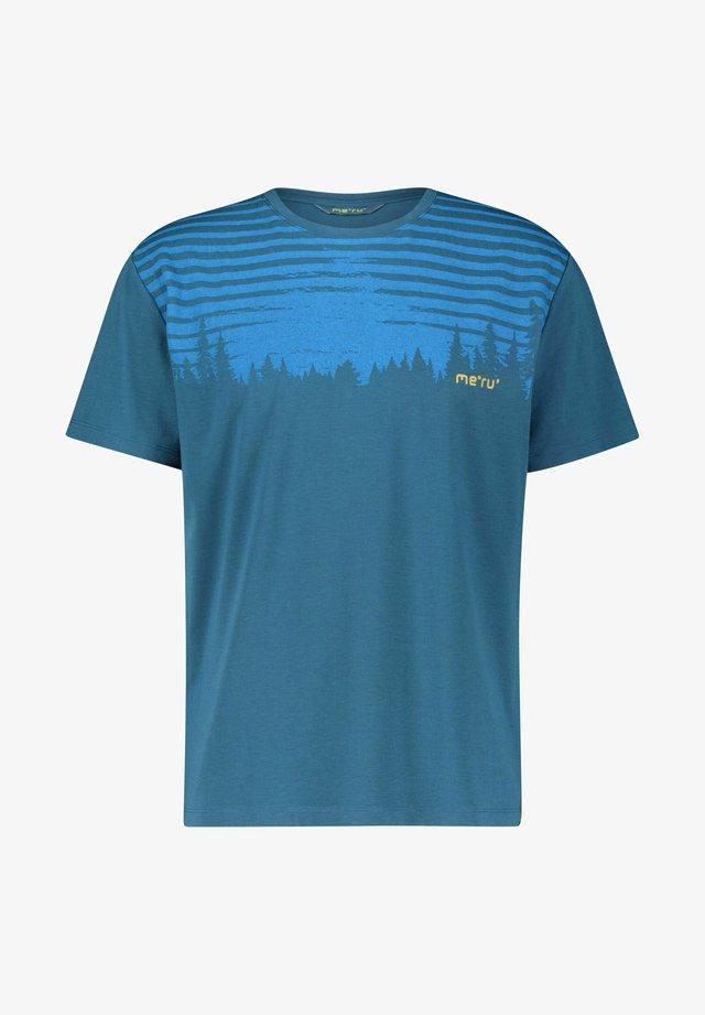 MOSS - Print T-shirt - petrol
