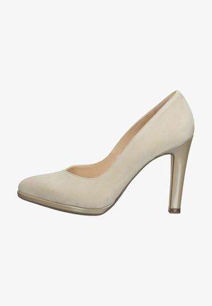 High heels - sand suede mura