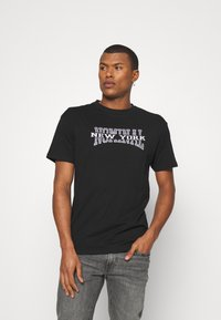 Nominal - NEW YORK TEE - Print T-shirt - black - 0