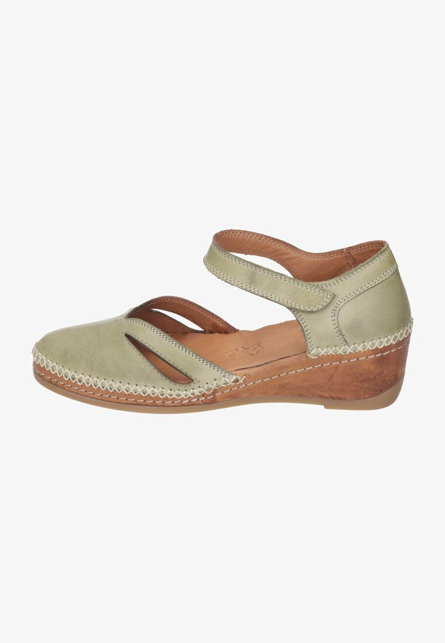 Wedge sandals - pistazie
