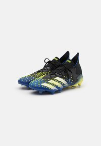 adidas Performance - PREDATOR FREAK .1 FG - Moulded stud football boots - core black/footwear white/solar yellow - 1