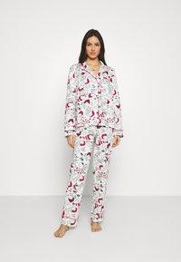 Women Secret - LONG SLEEVES MASCULINE SET - Pyžamová sada - white - 0