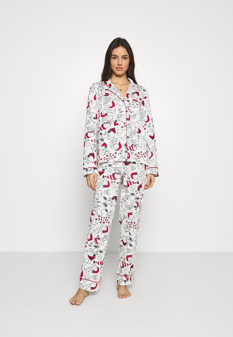 Women Secret - LONG SLEEVES MASCULINE SET - Pyžamová sada - white