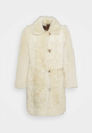 BELLA COAT - Leather jacket - brown/cream