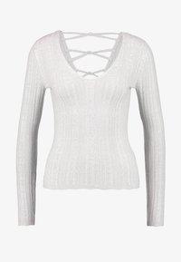 Miss Selfridge - KNOT BACK - Stickad tröja - grey exclusive - 4