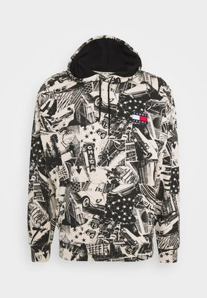 ALLOVER PRINT BADGE HOODIE - Sweat à capuche - white