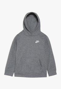 Nike Sportswear - CLUB HOODIE UNISEX - Jersey con capucha - carbon heather - 0