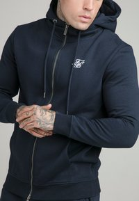 SIKSILK - ZIP THROUGH FUNNEL NECK HOODIE - Felpa aperta - navy - 4