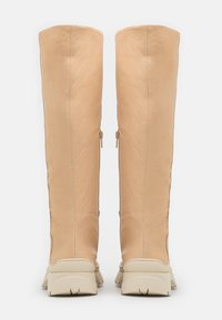 Selected Femme - SLFLUCY HIGH SHAFTED BOOT  - Kozačky na platformě - sand - 3