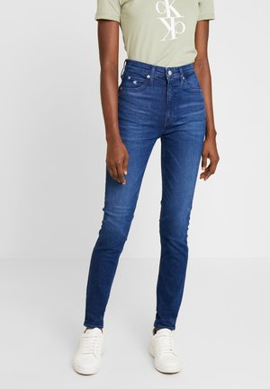 HIGH RISE SKINNY - Džíny Slim Fit - ca060 mid blue