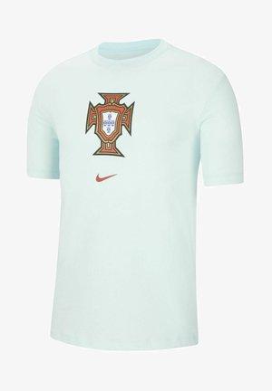 Print T-shirt - teal tint