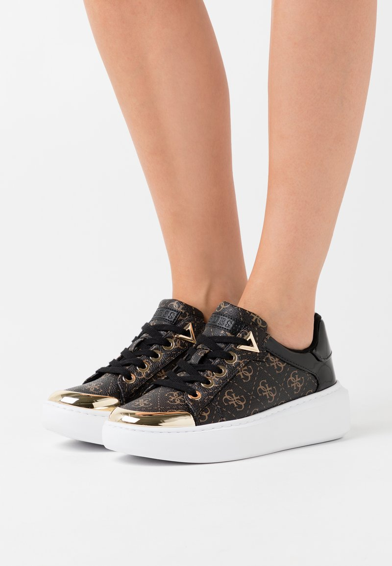 Guess - BRANDYN - Trainers - brown/ocra