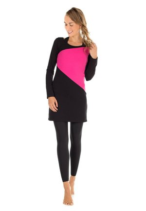 Day dress - schwarz/pink