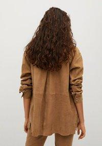 Mango - Button-down blouse - light brown - 2