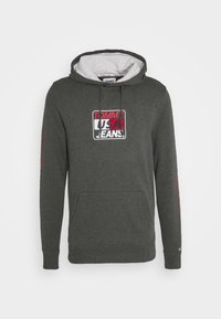 ESSENTIAL GRAPHIC HOODIE - Mikina s kapucí - dark grey heather