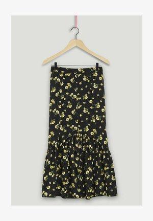 JAUNA  - A-line skirt - black
