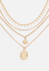 Pieces - PCSKIA COMBI NECKLACE - Necklace - gold-coloured - 2