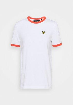 RINGER  - Print T-shirt - white/orange