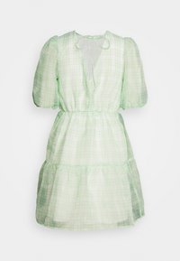 Missguided - PUFF SKATER DRESS  - Cocktailkjoler / festkjoler - green - 1