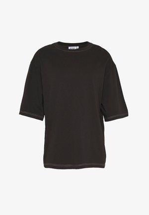 UNISEX NOAH OVERDYE  - Basic T-shirt - overdye black