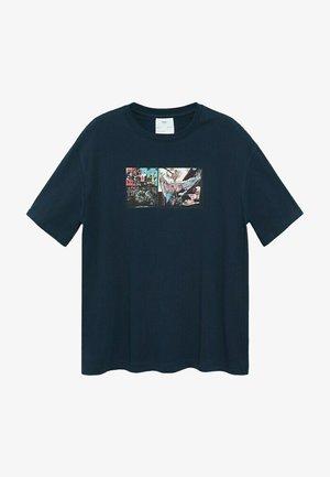 T-shirt con stampa - bleu