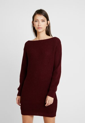 Jumper dress - burgundy