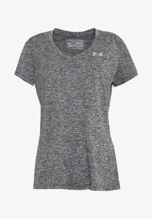 TECH TWIST - Basic T-shirt - black/metallic silver