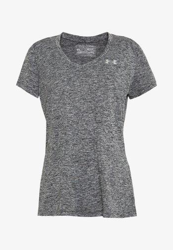 TECH TWIST - T-shirt de sport - black/metallic silver